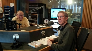 Kevin Henkes with Larry Meiller in the WPR studios