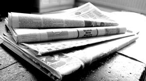 Newspapers news print