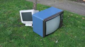 old TVs on the curb