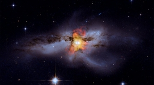 a galaxy in outer space