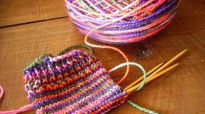knitting setup