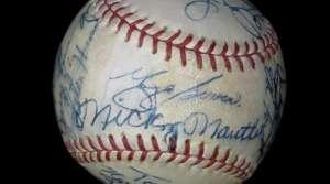 Signed baseball