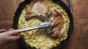 Pork chops in cast iron