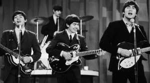 The Beatles performing for the first time on The Ed Sullivan Show