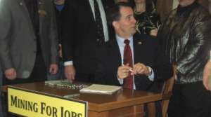 Read full article: Walker Signs Mining Bill Into Law