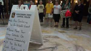 Read full article: Protest Singers Arrested At State Capitol