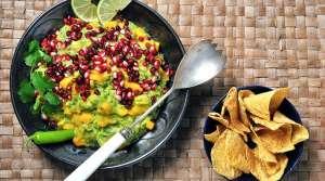 Read full article: Pomegranate Mango Guacamole