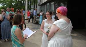 Read full article: Hundreds Of Same-Sex Couples Tie Knot After Wisconsin's Ban Overruled