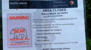 Read full article: Apostle Islands Re-Opens Area That Had Been Closed Due To Wandering Bear