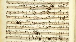 """autograph score of the final page of Handel's """"Messiah"""""""