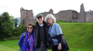 Three travelers at Urquhart Castle on Loch Ness