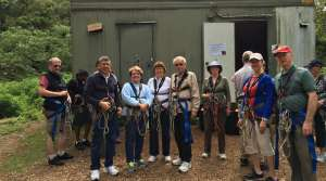 Preparing for Zip lining at O'Reilly's - Photo by Allen Rieland