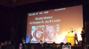 DJ Sixteen & Jay B Coolin accepting the award for Collab of the Year