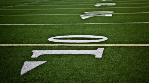 Football field, field lines, high school football