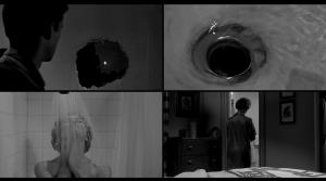 "Montage of shower scene images from ""Psycho"""