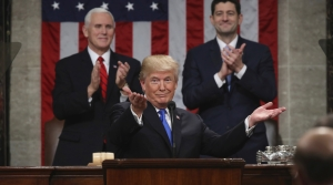 President Donald Trump speaks during 2018 State of the Union address