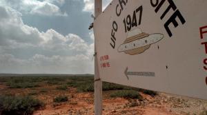 'UFO Crash Site' sign