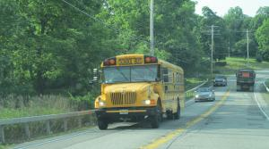 School bus on highway