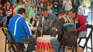 Menominee Nation of Wisconsin drummers