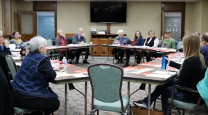 Members of the La Crosse Task Force to End Human Slavery meet this week at St. Rose convent in La Crosse