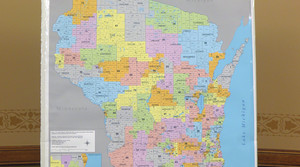 A map of Wisconsin's current state Assembly districts