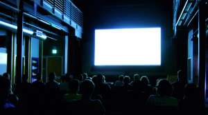 People sitting in a movie theater