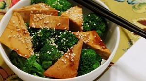 Read full article: Sesame Tofu with Broccoli