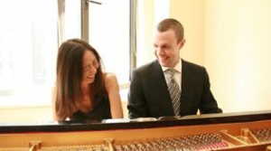 Jessica Chow Shinn and Michael Shinn at the piano