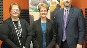 Beth Smith-Houskamp, Martha Scheckel and Jason Fratzke