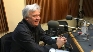 Photo of Trevor Stephenson in the WPR studios