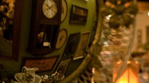 antiques reflected in a mirror
