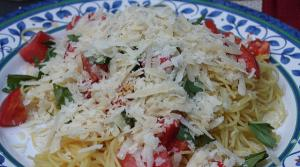 Read full article: Angel Hair Pasta with Garlic Cream Sauce