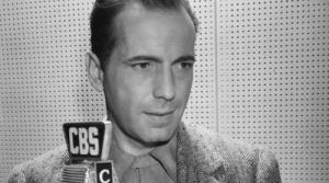 Photo of CBS Radio actor Humphrey Bogart