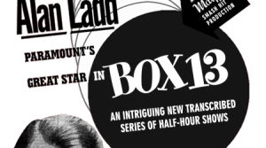 Newspaper Ad illustration for the radio program Box 13