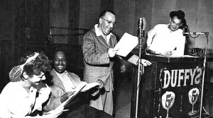 Cast photo from the radio program Duffy's Tavern