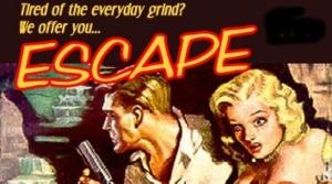 Promotional illustration for the radio program Escape