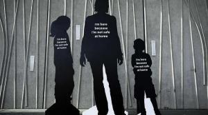 Domestic abuse art installation