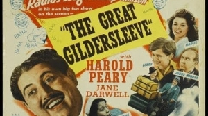 Promotional illustration for the radio program The Great Gildersleeve