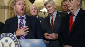 Sens. Lindsey Graham, Bill Cassidy and Mitch McConnell