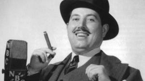 Photo of radio actor Harold Peary as the Great Gildersleeve
