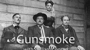Photo of cast members of the radio program Gunsmoke