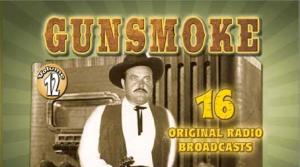 Promotional image for the radio program Gunsmoke