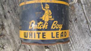 An old can of lead paint