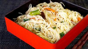 Read full article: Mediterranean Rice Noodle Bowl