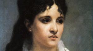 Mélanie Bonis, painting byCharles-Auguste Corbineau