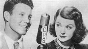 Early photo of Ozzie and Harriet Nelson, probably from 1946