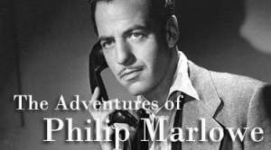 Photo of Philip Marlowe played by radio actor Gerald Mohr
