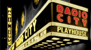 Illustration for the Radio City Playhouse