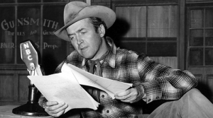 Photo of actor Jimmy Stewart in The Six-Shooter
