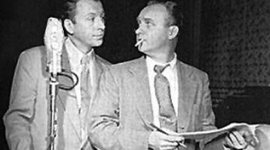 Photo of radio actors Ken Lynch and Les Damon appearing in The Falcon
